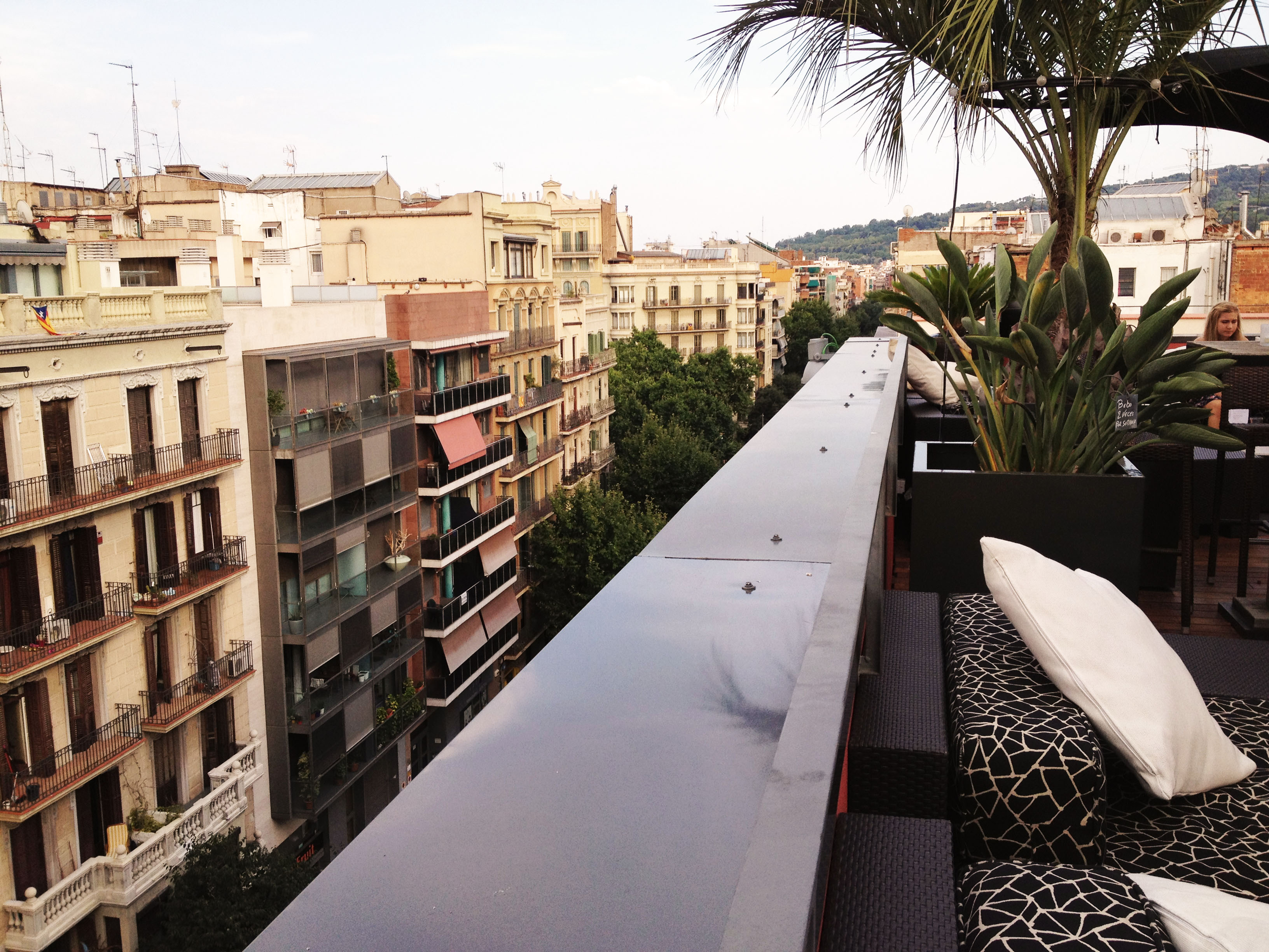 Chilling above Barcelona's roofs
