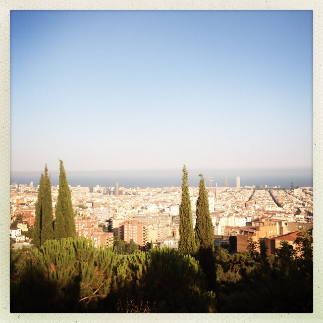 View over the city from Park Güell