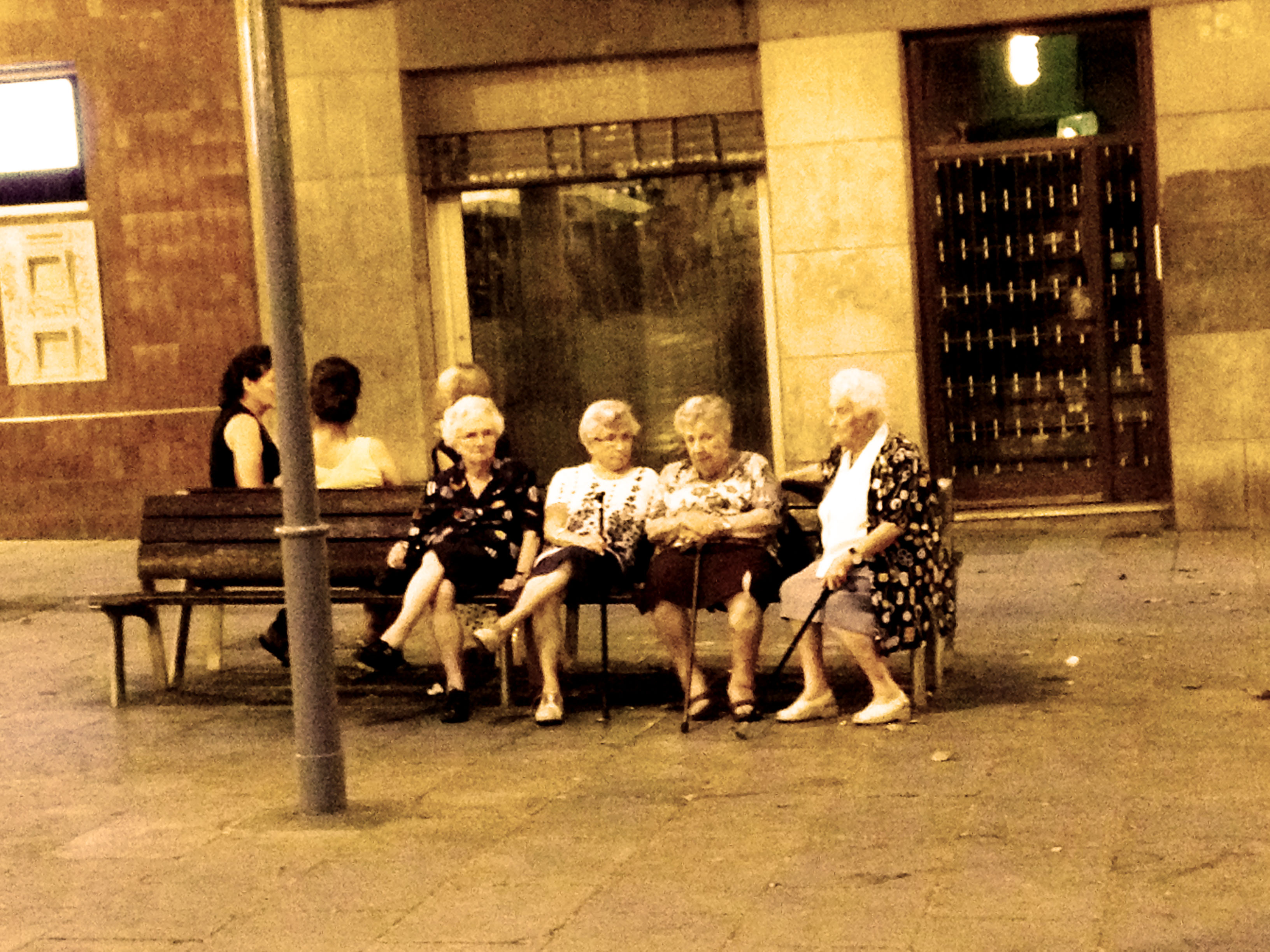 Retirees join up at the Plaças...