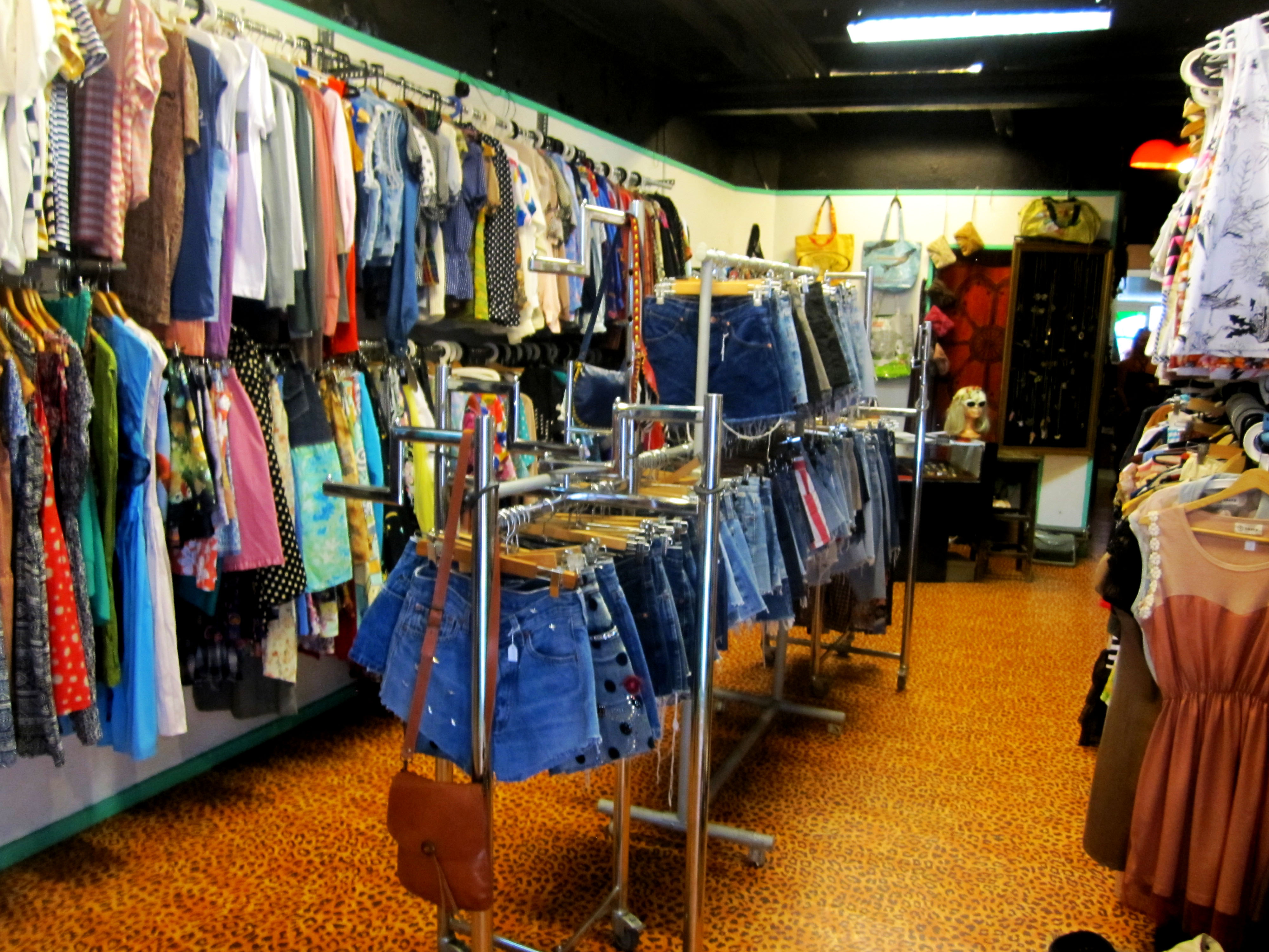 ...in the showroom you find all kind of retro clothes...