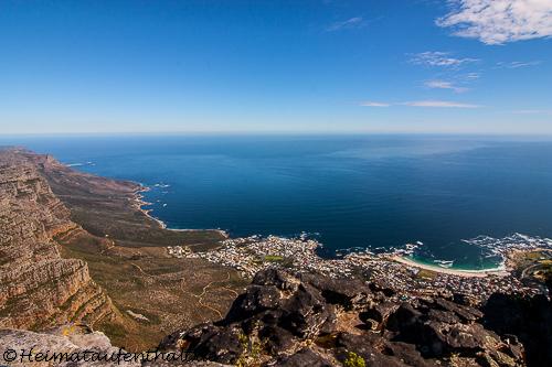 Auch Camps Bay sieht man von hier oben, dieses Mal aus einer ganz anderen Perspektive