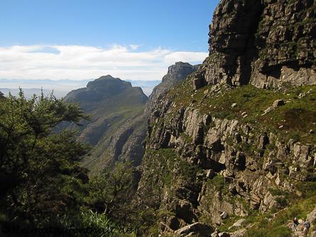 ...dann haben wir den höchsten Punkt des Tafelbergs fast erreicht