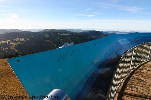 Bei klarer Sicht kann man von hier die höchsten Berge der Alpen sehen