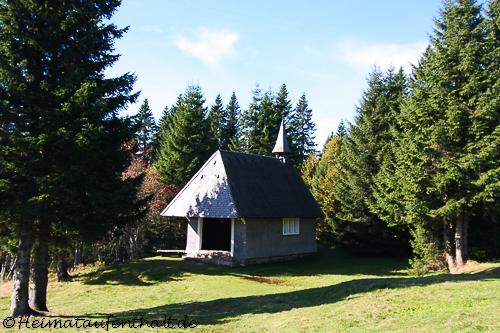 Die kleine Laurentius Kapelle direkt hinter der Todtnauer Hütte