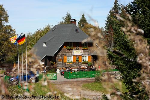 Die urige Zastler Hütte mit schönem Biergarten