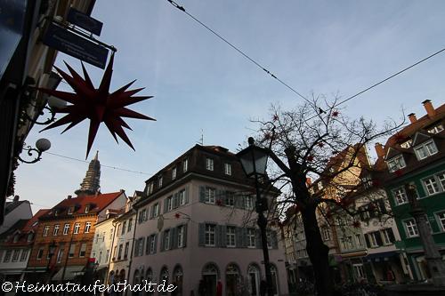 Die schöne Altstadt in Freiburg im Breisgau