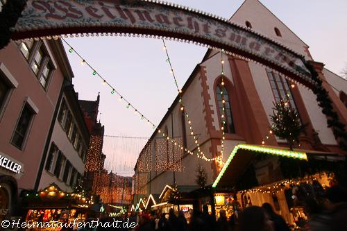Willkommen auf dem Freiburger Weihnachtsmarkt!