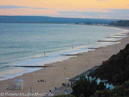 Start unseres Road Trips: Bournemouth, bekannt für ihren 10 km langen Sandstrand